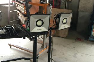 LED投光器の写真